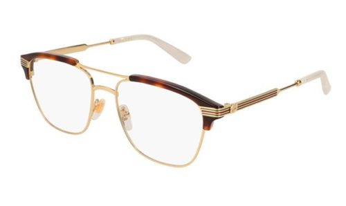 Gucci GG0241O 001-gold-gold-transparent 54 Akinių rėmeliai Vyrams