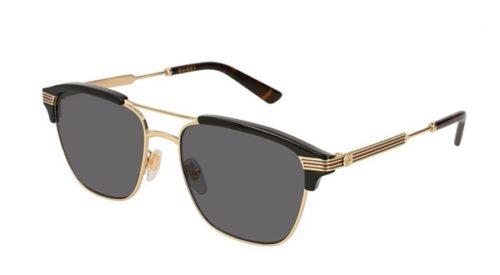 Gucci GG0241S 002-gold-gold-grey 54 Akiniai nuo saulės Vyrams