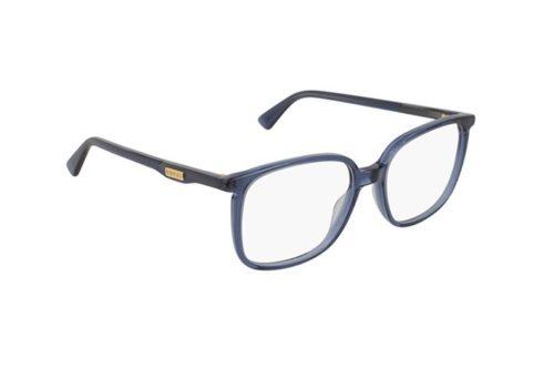 Gucci GG0260O 003-blue-blue-transparent 53 Akinių rėmeliai Unisex