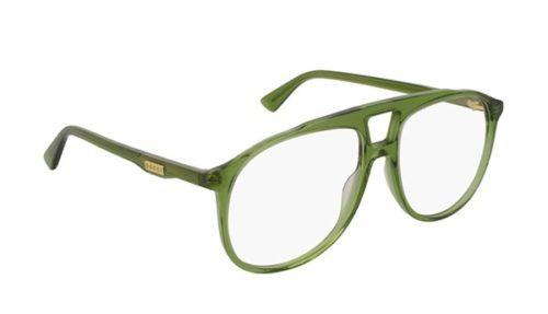 Gucci GG0264O 004-green-green-transpare 57 Akinių rėmeliai Vyrams