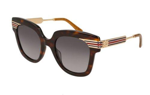 Gucci GG0281S 002-havana-gold-brown 50 Akiniai nuo saulės Moterims