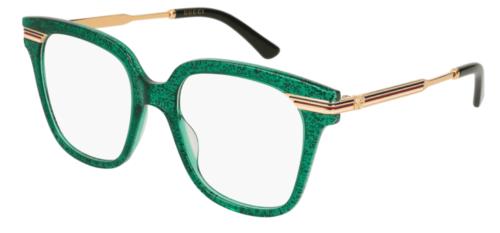 Gucci GG0284O 004-green-gold-transparen 50 Akinių rėmeliai Moterims