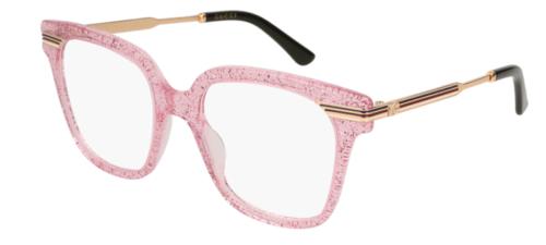 Gucci GG0284O 005-pink-gold-transparent 50 Akinių rėmeliai Moterims
