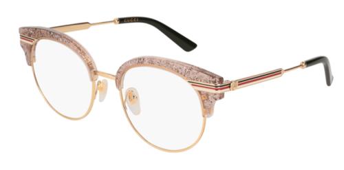 Gucci GG0285O 003-nude-gold-transparent 50 Akinių rėmeliai Moterims