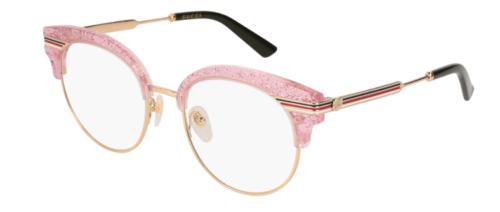 Gucci GG0285O 005-pink-gold-transparent 50 Akinių rėmeliai Moterims
