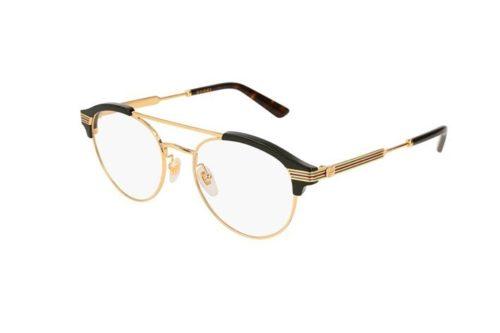Gucci GG0289O 001-black-gold-transparen 51 Akinių rėmeliai Vyrams