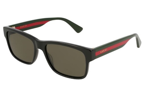 Gucci GG0340S 002 black multicolor grey 56 Akiniai nuo saulės Vyrams