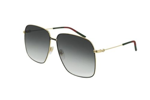 Gucci GG0394S 001-gold-gold-grey 61 Akiniai nuo saulės Moterims