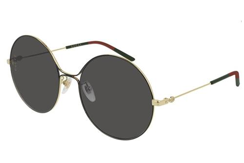 Gucci GG0395S 001-gold-gold-grey 58 Akiniai nuo saulės Moterims