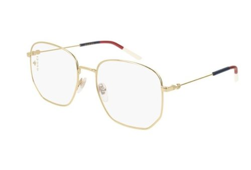 Gucci GG0396O 002-gold-gold-transparent 56 Akinių rėmeliai Moterims