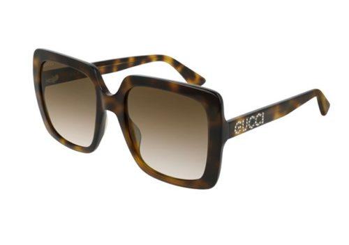 Gucci GG0418S 003-havana-havana-brown 54 Akiniai nuo saulės Moterims