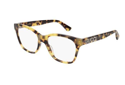 Gucci GG0420O 003-havana-shiny-transpar 52 Akinių rėmeliai Moterims