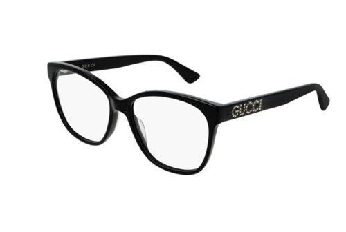 Gucci GG0421O 001-black-black-transpare 55 Akinių rėmeliai Moterims