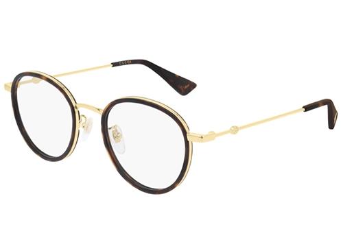 Gucci GG0608OK 003 havana gold transpare 49 Akinių rėmeliai Unisex