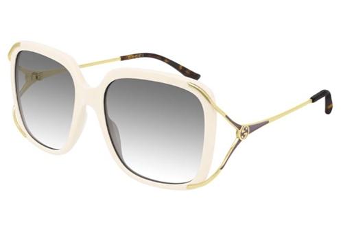 Gucci GG0647S 004 ivory gold grey 56 Akiniai nuo saulės Moterims