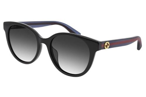 Gucci GG0702SK 002 black blue grey 54 Akiniai nuo saulės Moterims