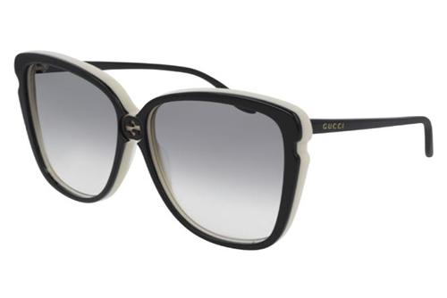 Gucci GG0709S 004 black black grey 63 Akiniai nuo saulės Moterims