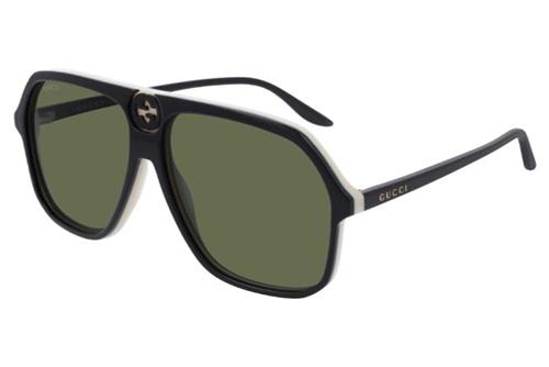 Gucci GG0734S 004 black black green 62 Akiniai nuo saulės Vyrams