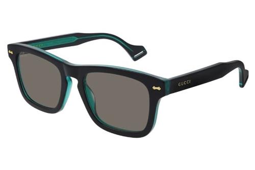 Gucci GG0735S 004 black black green 53 Akiniai nuo saulės Vyrams