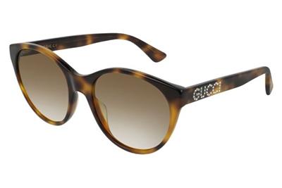 Gucci GG0419S 003-havana-havana-brown 54 Akiniai nuo saulės Moterims