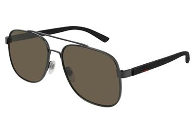 Gucci GG0422S 002-ruthenium-black-grey 60 Akiniai nuo saulės Vyrams