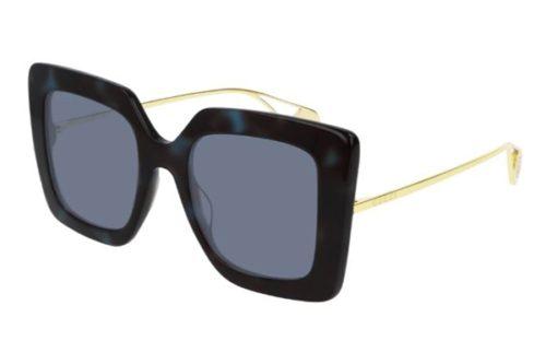 Gucci GG0435S 004 havana gold blue 51 Akiniai nuo saulės Moterims