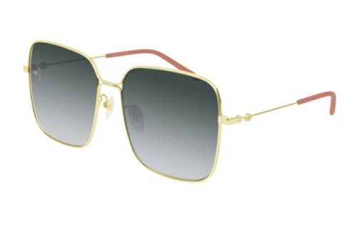 Gucci GG0443S 001 gold gold grey 60 Akiniai nuo saulės Moterims