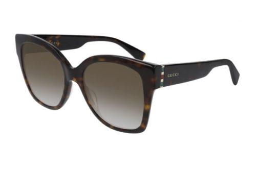 Gucci GG0459S 002 havana gold brown 54 Akiniai nuo saulės Moterims