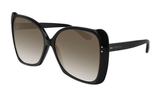 Gucci GG0471S 001 black black brown 62 Akiniai nuo saulės Moterims