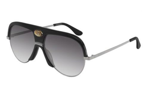 Gucci GG0477S 002 black ruthenium grey 59 Akiniai nuo saulės Unisex