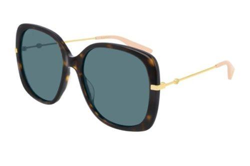 Gucci GG0511S 004 havana gold blue 57 Akiniai nuo saulės Moterims
