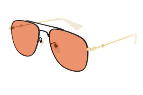 Gucci GG0514S 004 black gold orange 57 Akiniai nuo saulės Vyrams