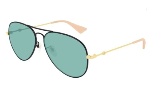 Gucci GG0515S 005 black gold green 60 Akiniai nuo saulės Vyrams