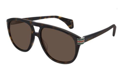 Gucci GG0525S 003 havana havana brown 60 Akiniai nuo saulės Vyrams