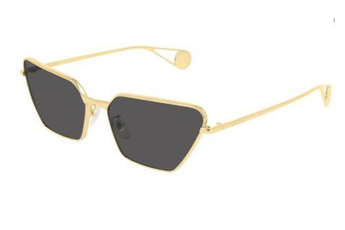 Gucci GG0538S 001 gold gold grey 63 Akiniai nuo saulės Moterims