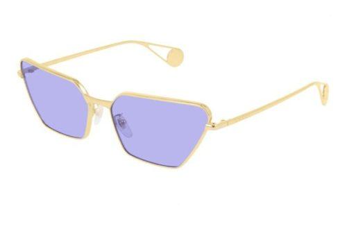 Gucci GG0538S 006 gold gold blue 63 Akiniai nuo saulės Moterims