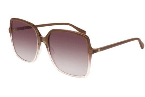 Gucci GG0544S 004 brown brown violet 57 Akiniai nuo saulės Moterims