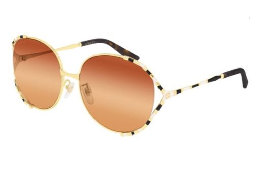 Gucci GG0595S 003 gold gold orange 59 Akiniai nuo saulės Moterims