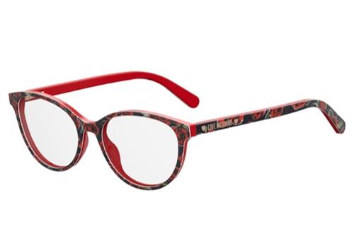 Moschino Love Mol525 0PA/17 RED PATTERN 52 Akinių rėmeliai Moterims