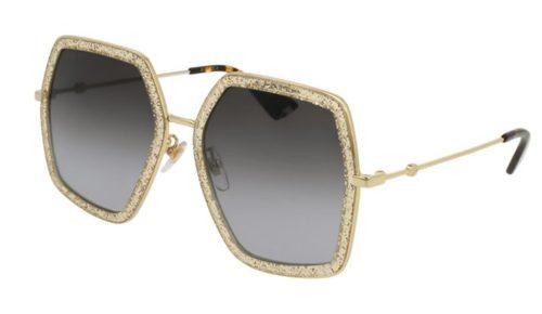 Gucci GG0106S 005-gold 56 Akiniai nuo saulės Moterims