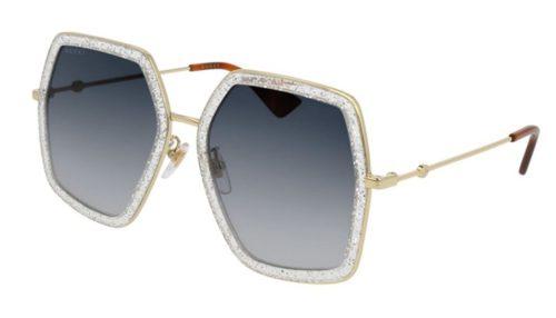 Gucci GG0106S 006-silver 56 Akiniai nuo saulės Moterims