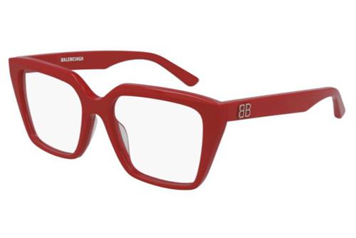 Balenciaga BB0130O 003 red red transparent 53 Akinių rėmeliai Moterims