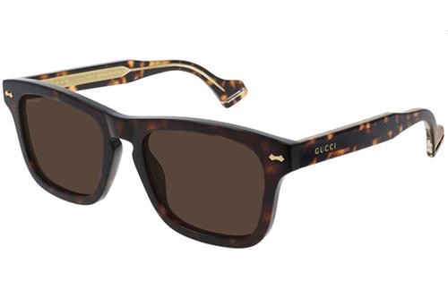 Gucci GG0735S 003 havana havana brown 53 Akiniai nuo saulės Vyrams