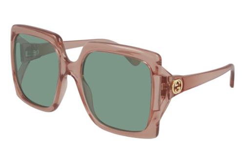 Gucci GG0876S 003 pink pink green 60 Akiniai nuo saulės Moterims