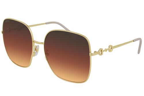 Gucci GG0879S 004 gold gold brown 61 Akiniai nuo saulės Moterims