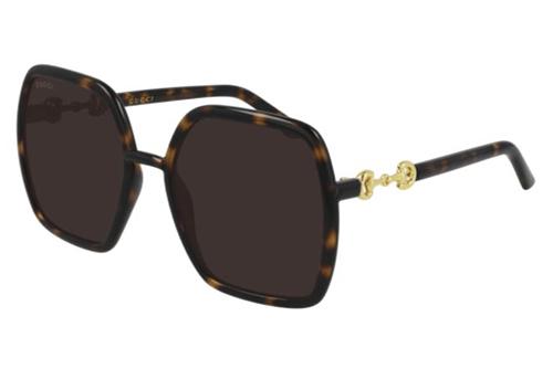 Gucci GG0890S 002 havana havana brown 55 Akiniai nuo saulės Moterims