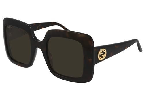 Gucci GG0896S 002 havana havana brown 52 Akiniai nuo saulės Moterims