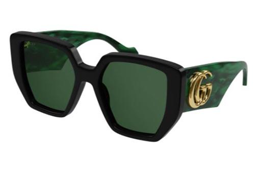 Gucci GG0956S 001 black green green 54 Akinių rėmeliai Moterims
