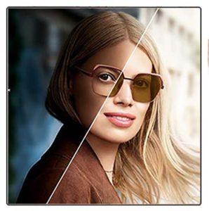 Fotochrominiai Transitions lęšiai žiūrėjimui į tolį, trumparegystei, toliaregystei ir astigmatizmui koreguoti